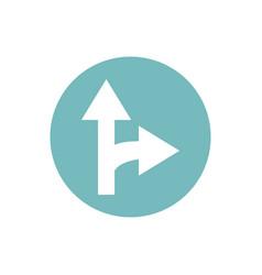 Icon arrow in color circle vector