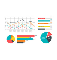 infographics marketing statistic modern vector image