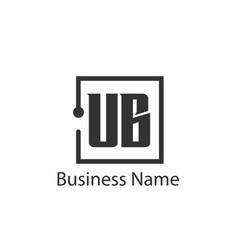 Initial letter ub logo template design vector