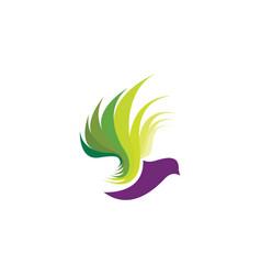 leaf bird logo design vector image