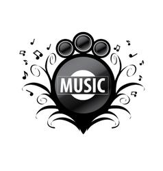logo music vector image