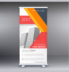 Modern professional standee design with abstract vector