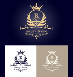 Monogram luxury frame vector