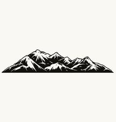 mountains landscape concept vector image