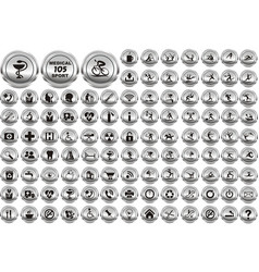 Multimedia sport and medical circle icons set vector