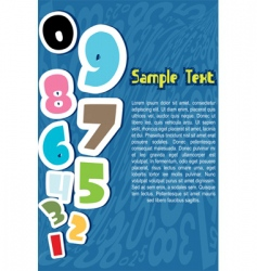 numbers with sample text vector image
