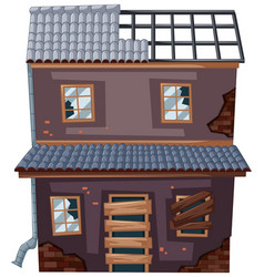 old house with no roof vector image