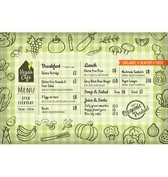 organic food vegan restaurant menu vector image