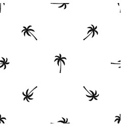 palm tree pattern seamless black vector image