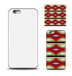 Phone cover reverse side of smartphone ethnic vector