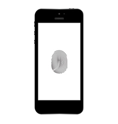 Phone finger scanner Eps10 vector