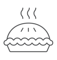 pie thin line icon pastry and food cake sign vector image