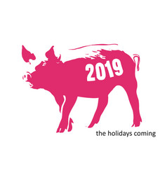 Pig banksy coming vector
