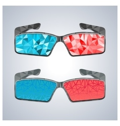 Polygon 3D glasses vector