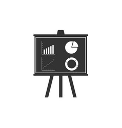 presentation financial business board with graph vector image
