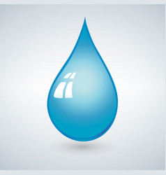Realistic 3d blue water drop isolated vector