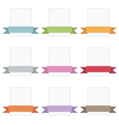 ribbon badges vector image