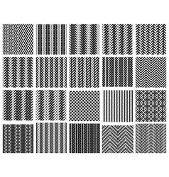 Set of 20 monochrome elegant seamless patterns vector