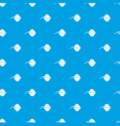 stingray fish pattern seamless blue vector image