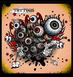 Tattoos eye explosion vector