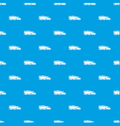 truck oil pattern seamless blue vector image