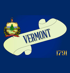Vermont scroll vector