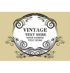 Vintage Beige Frame vector