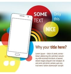 Website or page design with mobile phone vector image