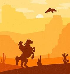 Wild West Landscape vector image