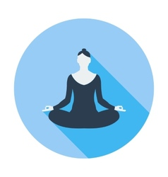 Yoga flat icon vector image