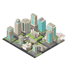 City Isometric Concept vector image