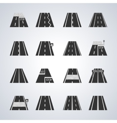 Icons of the road vector image