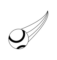Tennis ball sport or fitness related icon image vector