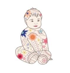 Baby vintage vector image vector image