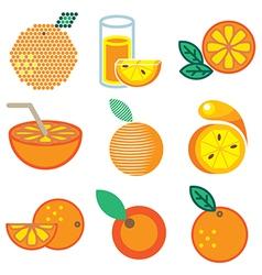 logo icons orange vector image vector image