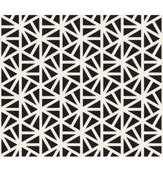 Seamless Black And White Hexagonal vector image