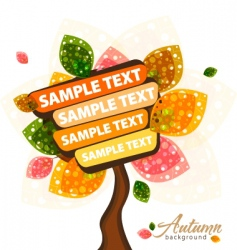 Autumn text vector image vector image