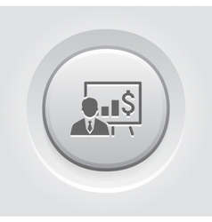 Business training icon online learning vector