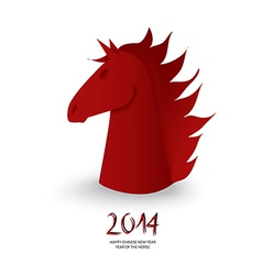 Chinese new year of the Horse red chess figure vector image