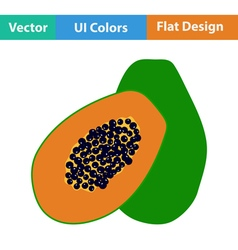 Flat design icon of papaya vector