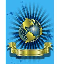 Golden Globes on blue vector image vector image