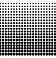 halftone background black-white dot vector image vector image