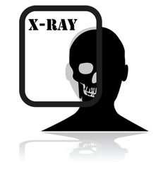 X-Ray plate vector image vector image