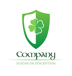Celtic Logo with green Shield vector image