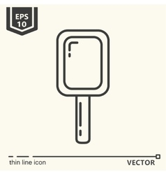 Hairdressing tools Icons series Mirror vector image vector image