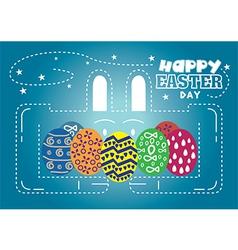 Happy Easter Day rabbit vector image vector image