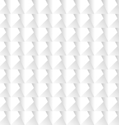 White 3d geometric background vector image