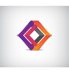 3d abstract colorful geometric construction logo vector image vector image