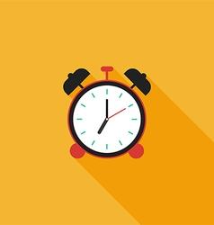 Alarm clock icon flat design vector