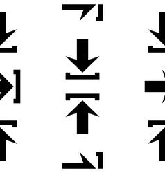 Arrow icon seamless pattern vector image